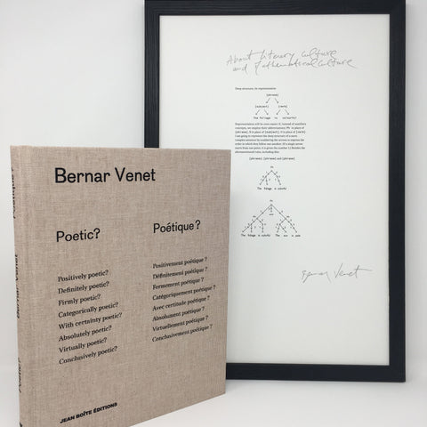 Bernar Venet Limited Ed. Poetic? Poetique ?