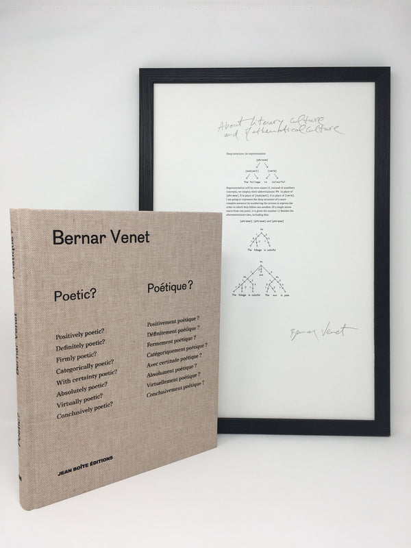Bernar Venet - Unique Limited Editions - Poetic? Poétique ?