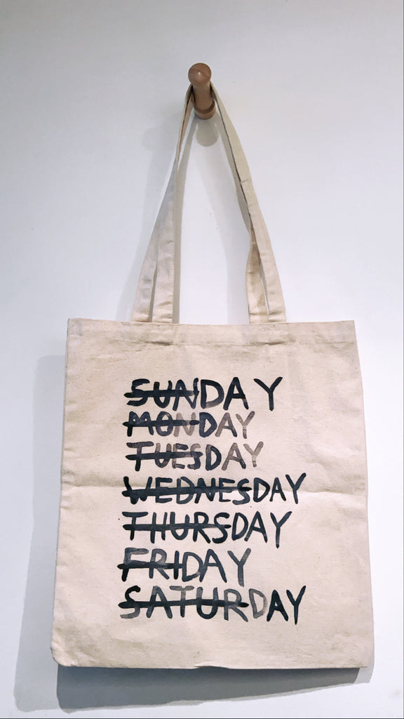 DAYS a tote bag by David Horvitz