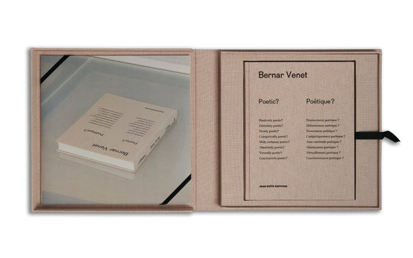 Bernar Venet - Limited Edition of 25 deluxe coffrets - Poetic? Poétique ?