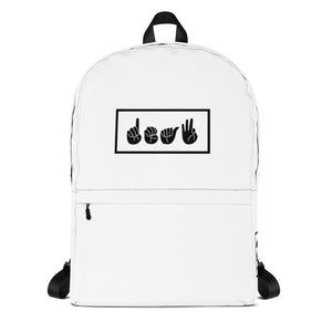 Deaf White Box Backpack
