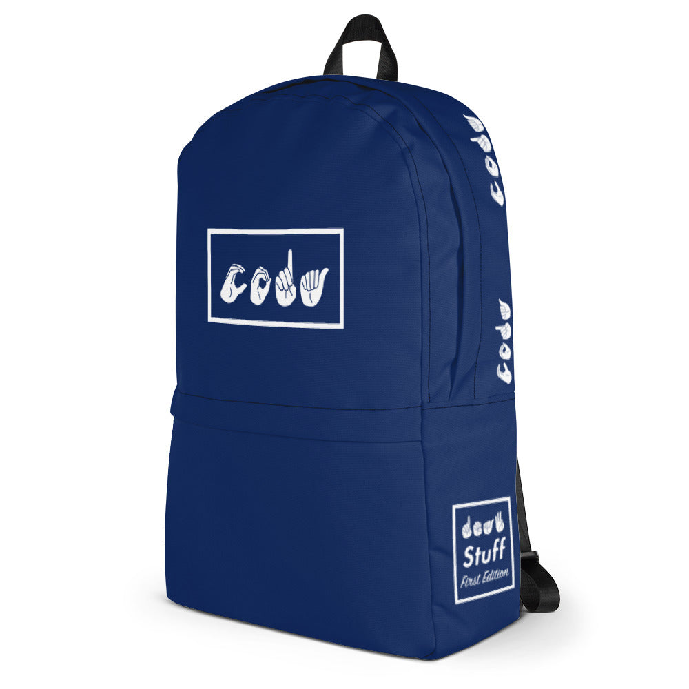 CODA Navy Box Backpack