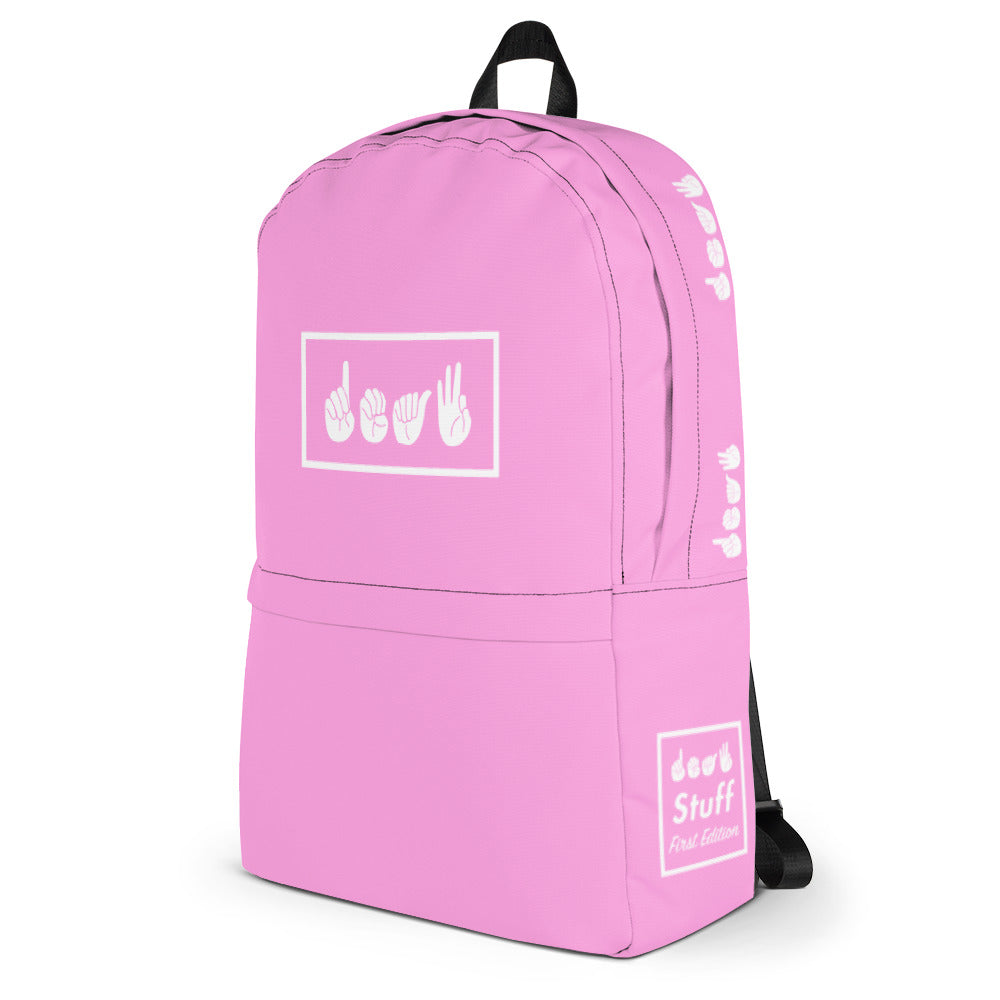 Deaf Pink Box Backpack