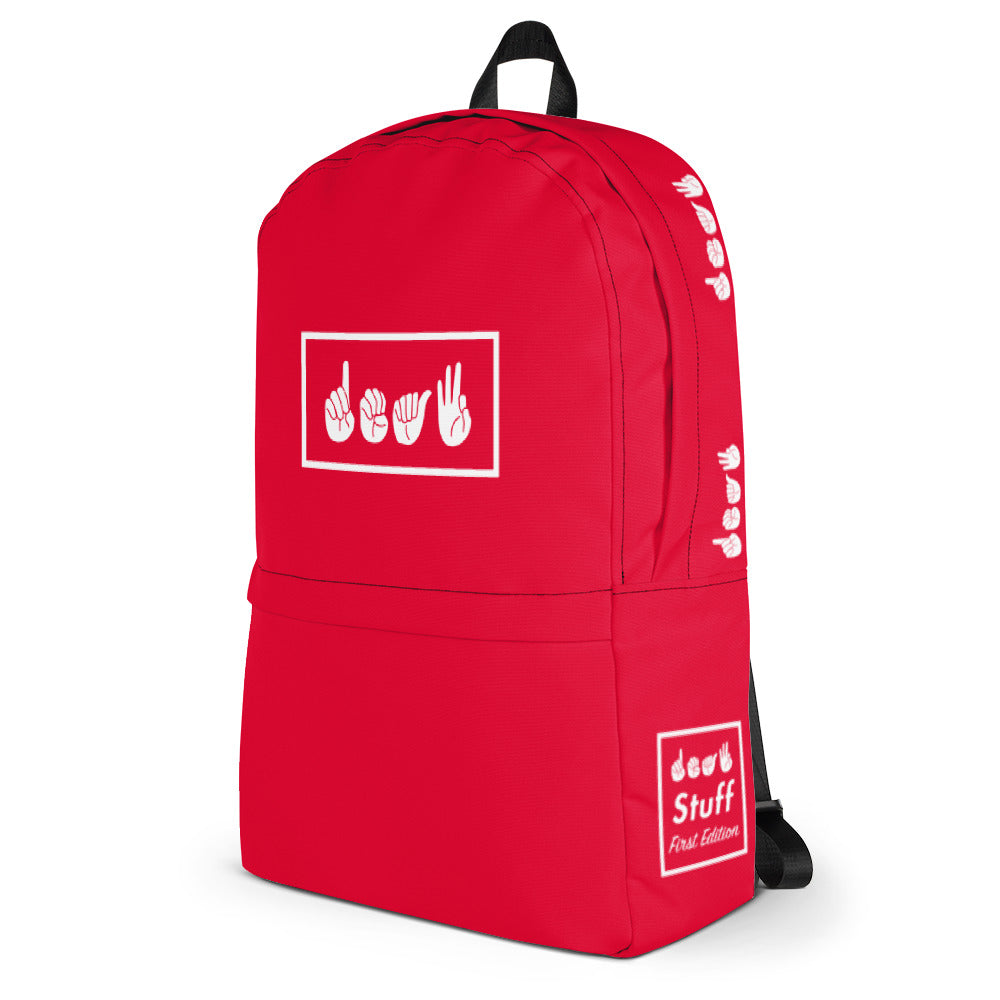 Deaf Red Box Backpack