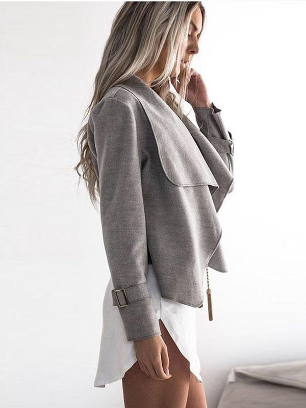 Large Lapel Casual Long Sleeve Jacket