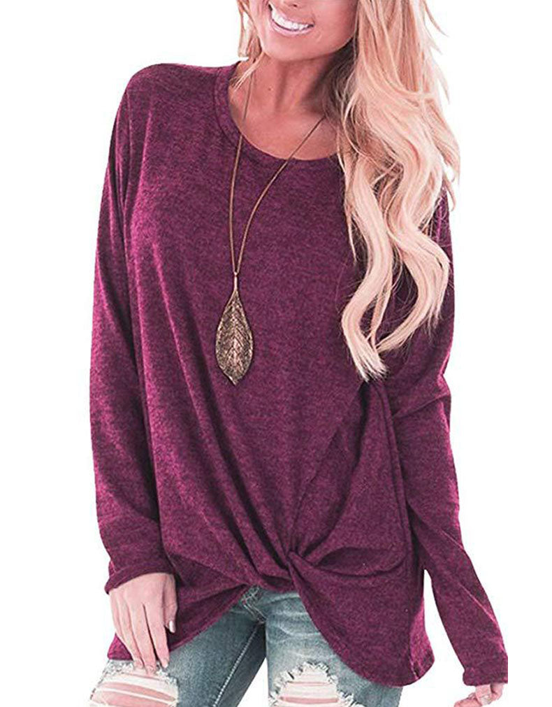 LONG SLEEVE ROUND NECK T-SHIRT