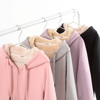 4 Colors Big Sizes Cozy Fleece Hoodie Coat