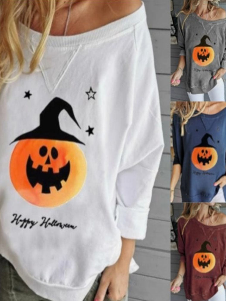 PUMPKIN HEAD PRINT T-SHIRT