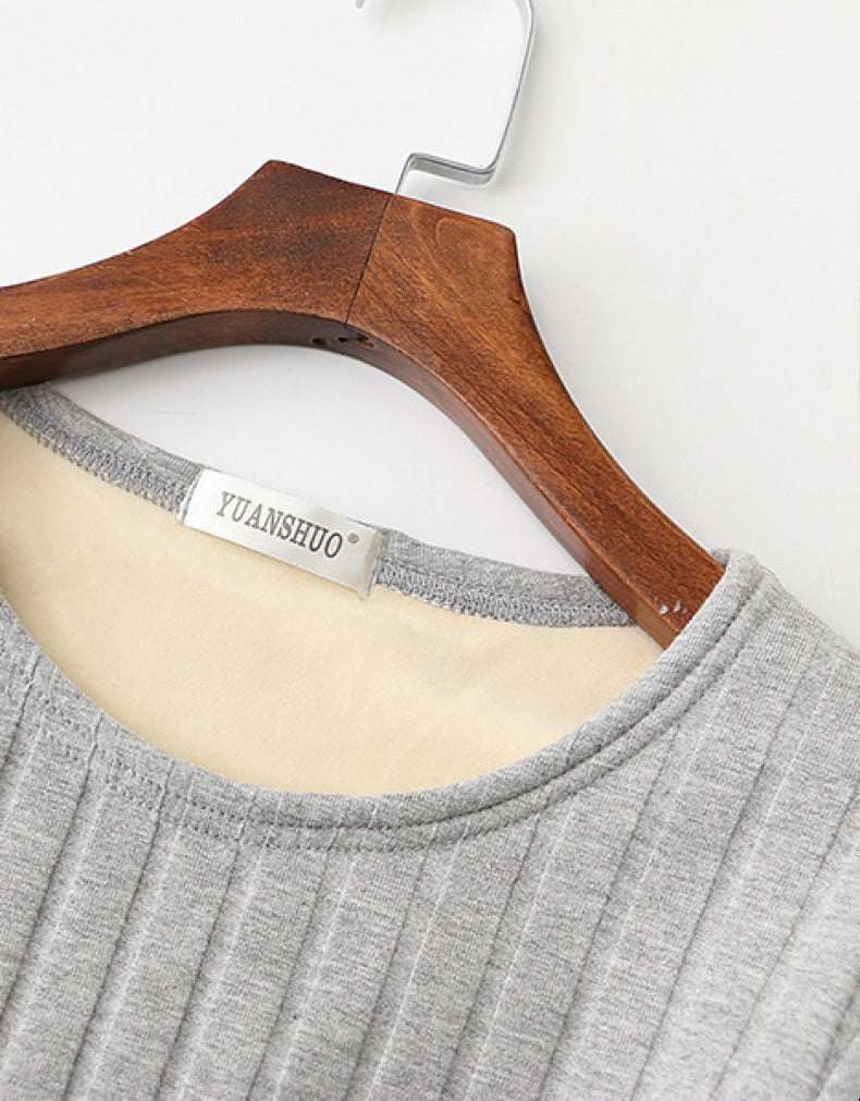 SOLID PANELED CASUAL SWEATSHIRT