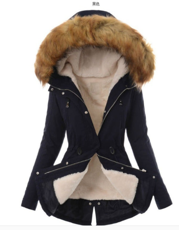 SOLID COLOR CASUAL WARM COAT WOMEN
