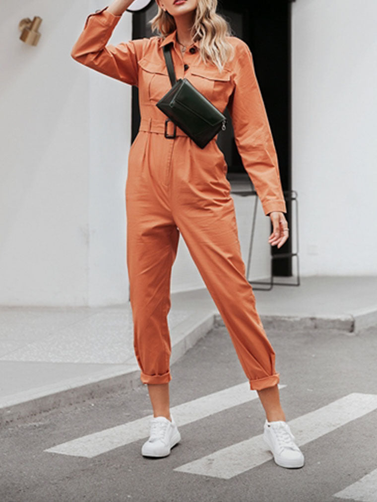 CASUAL CARGO COTTON FEMALE JUMPSUITS