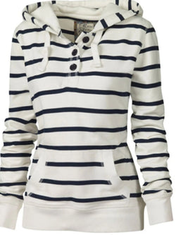 BUTTON DECORATIVE STRIPED SWEATER