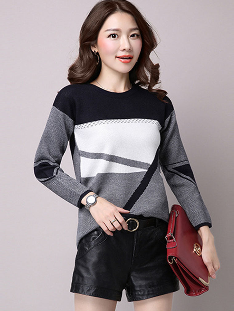 LOOSE ROUND NECK THICKENING SWEATER