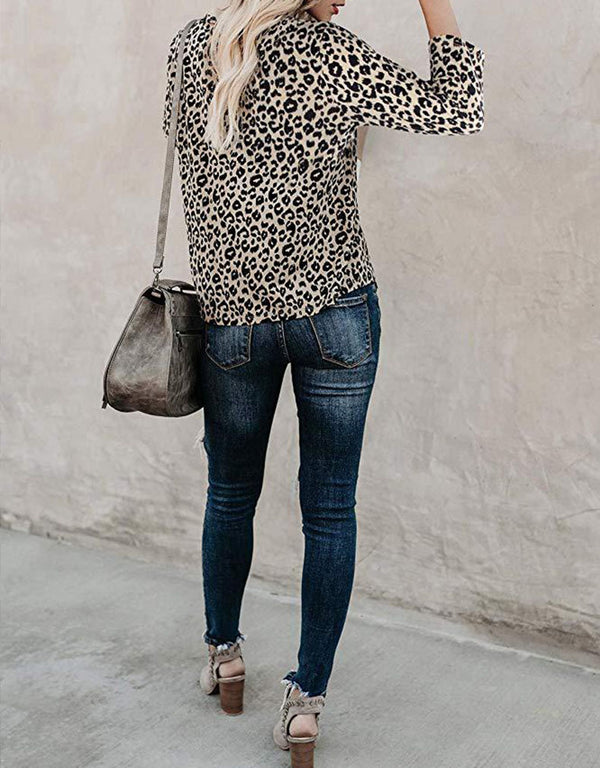 CASUAL LEOPARD PRINT TOP