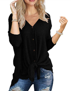 LOOSE BUTTON CARDIGAN T-SHIRT