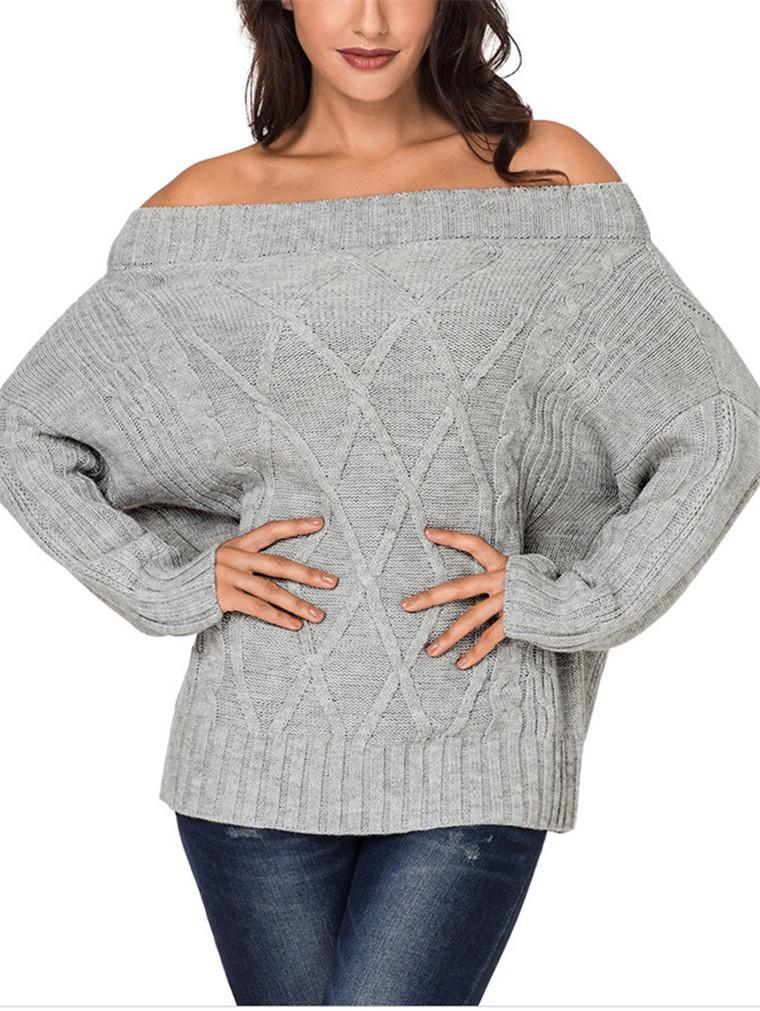 Sexy Long Sleeve Pullover Women's Sweater