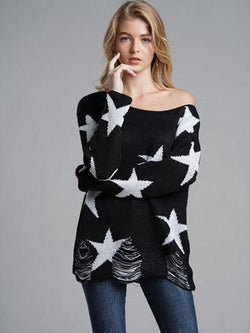 Star Decoration Warm Star Element Sweater