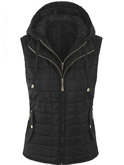 FAKE TWO-PIECE HOODED DETACHABLE VEST
