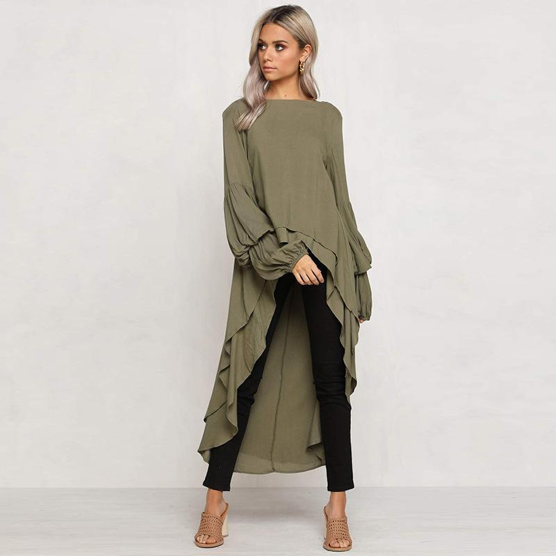 Ruffled Long Sleeve Shirt