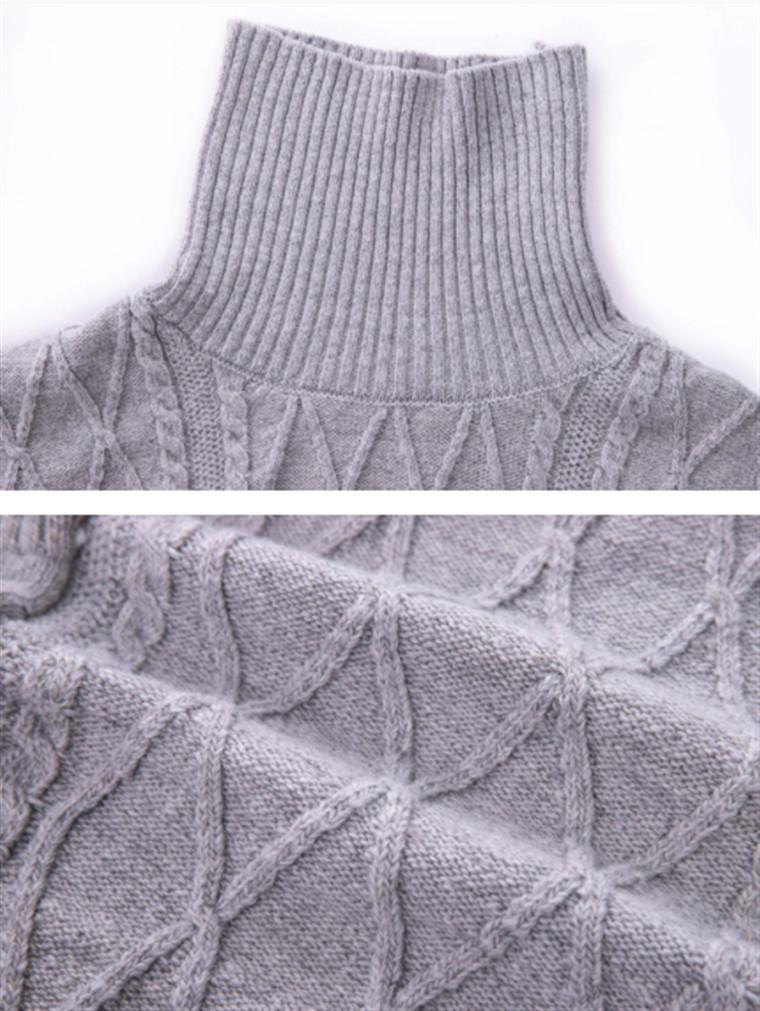 New Style Twist Vintage Woven Turtleneck Kniter Sweater