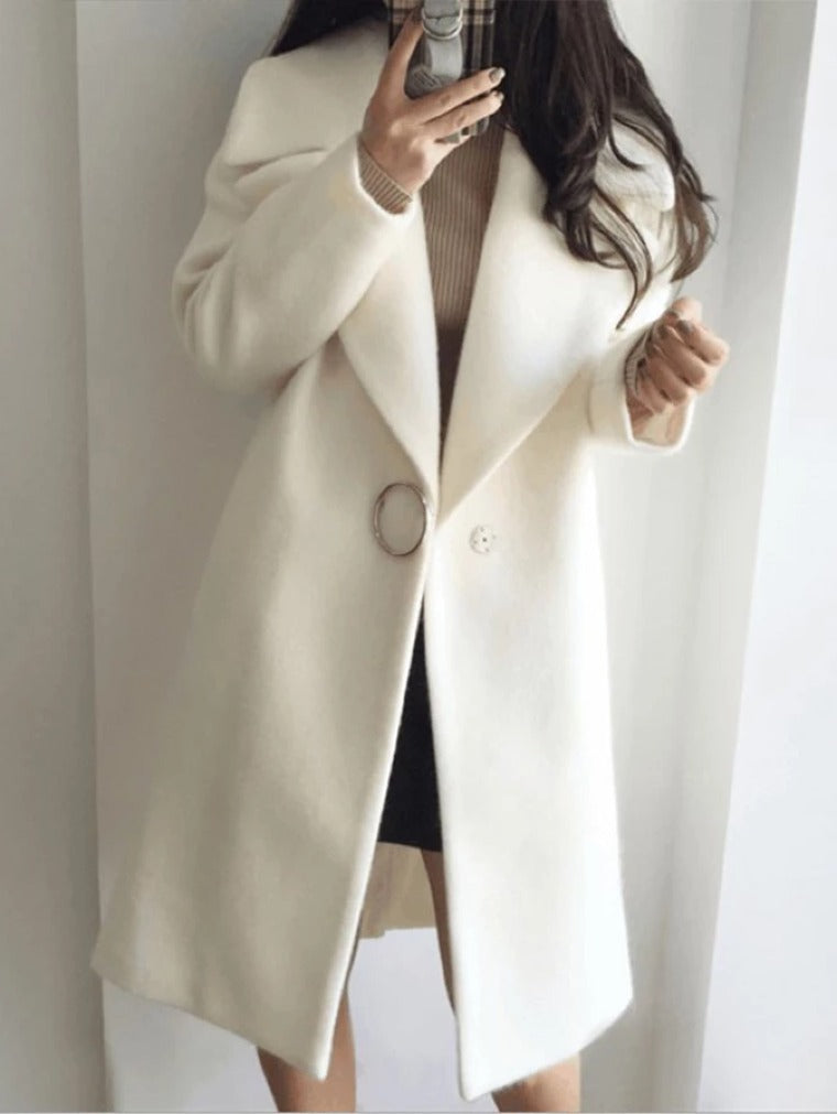 THICKENED LONG-LENGTH WOOLEN COAT
