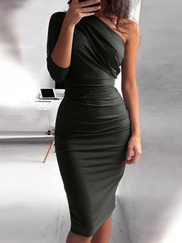 Sexy One Shoulder Bodycon Party Dresses
