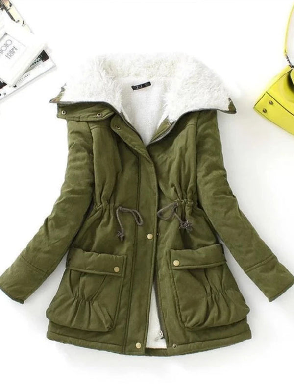 Slim Medium-long Thick Cotton Padded Warm Cotton Parkas