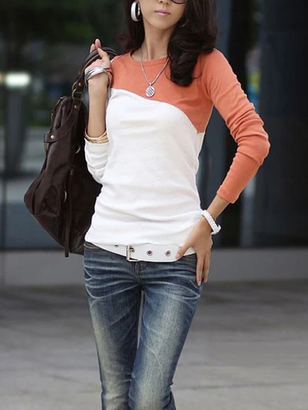 LONG SLEEVE ROUND NECK SLIM T-SHIRT