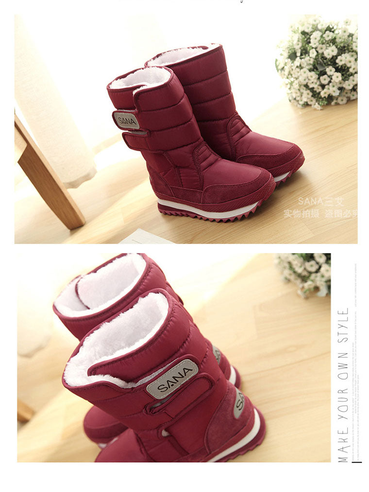 AUTUMN AND WINTER PLUS VELVET SNOW WOMEN'S BOOTS