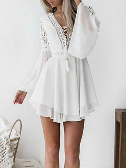 Long Sleeves Sexy Lace Dress