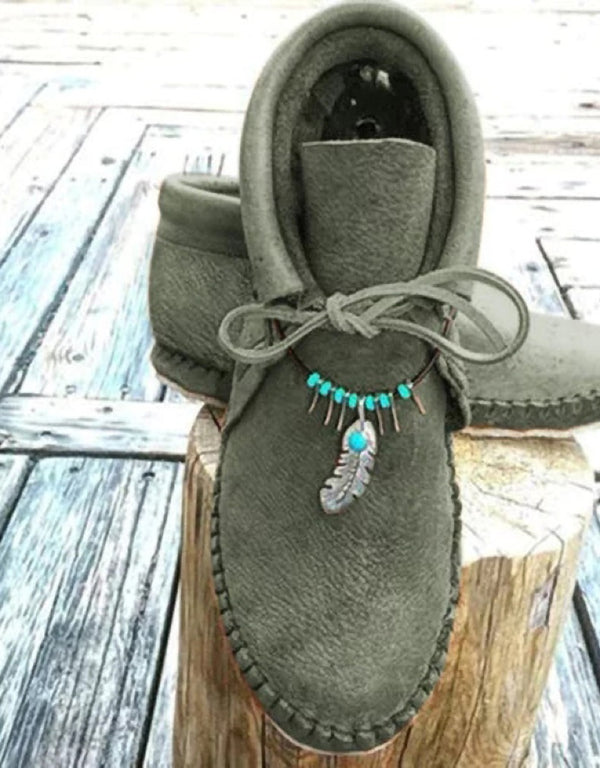 CASUAL VINTAGE DECORATIVE PENDANT SINGLE BOOTS