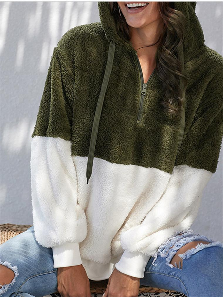 Women's Hooded Loose Hoodie Plush Jacket