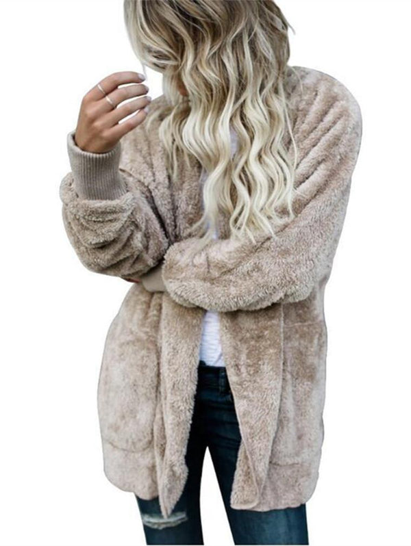 Plush Warm Long Double-faced Fur Coat