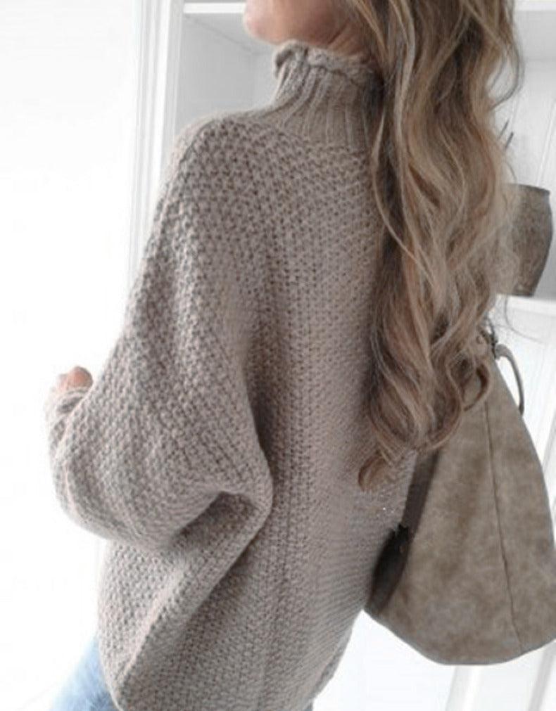 HALF-HIGH COLLAR CURLING PULLOVER