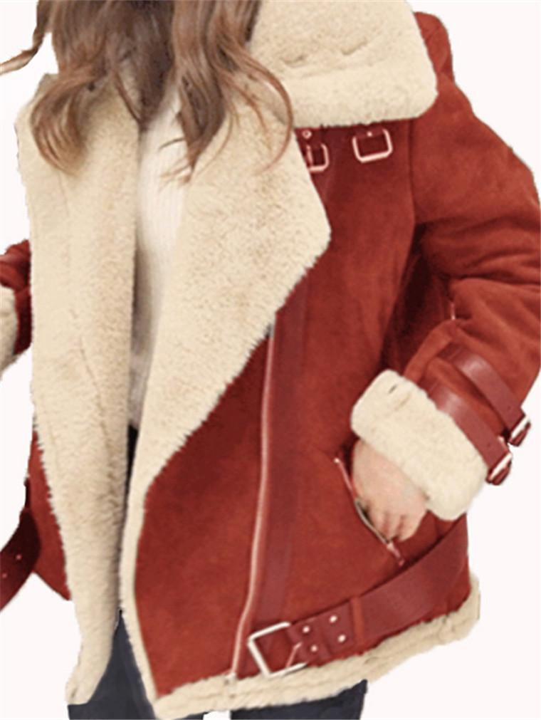 Long-sleeved Lapel Fur Jackets