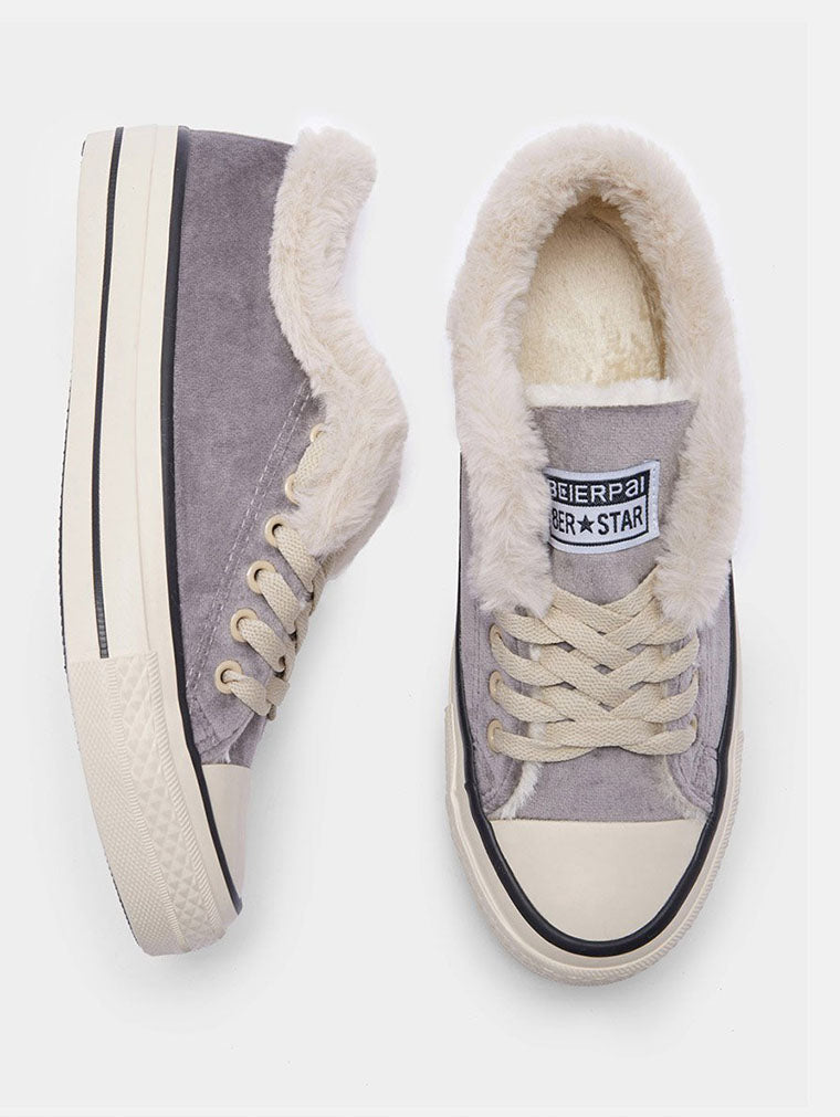 PLUS VELVET WARM CANVAS COTTON SHOES