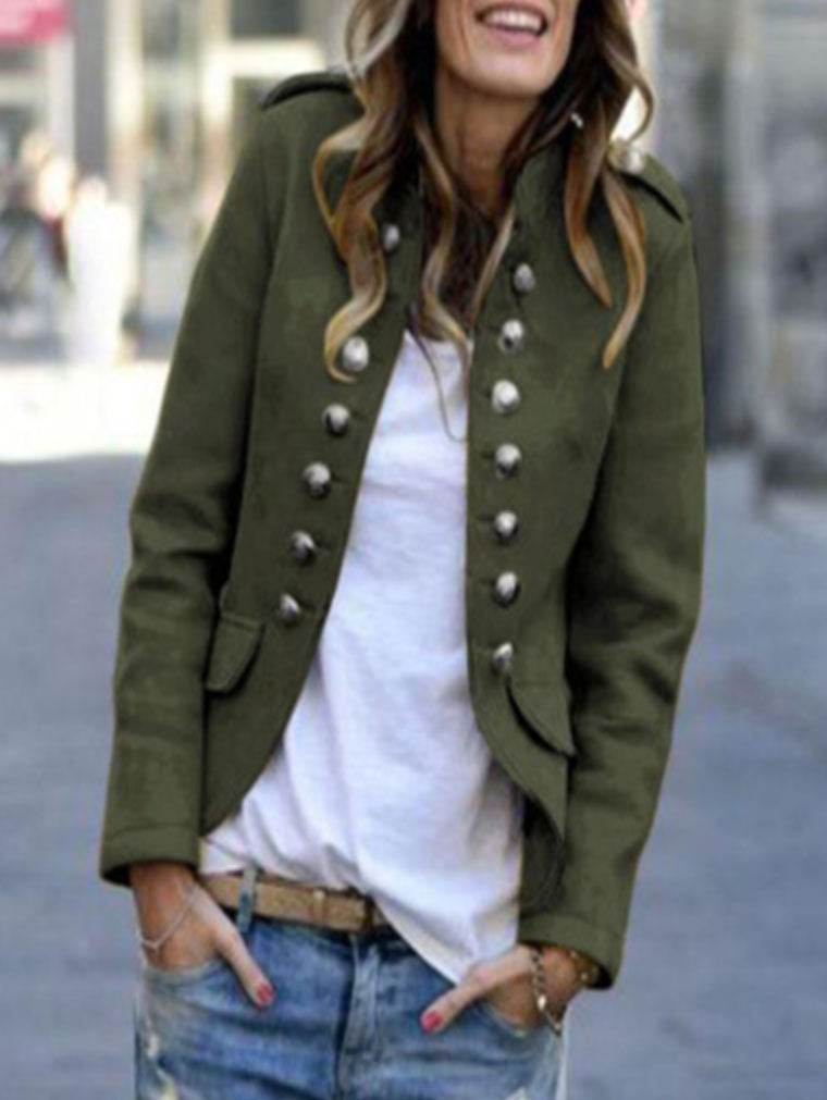 AUTUMN AND WINTER FASHION BUTTON BLZAER