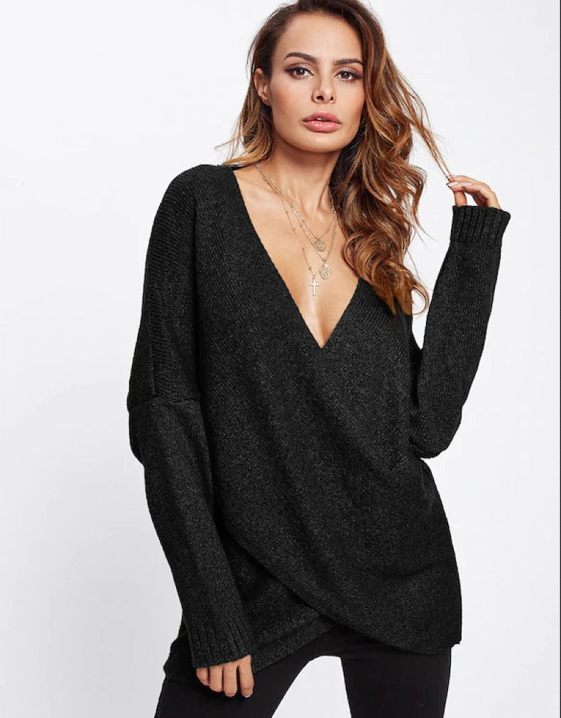 CHEST CROSS LONG SLEEVE PULLOVER
