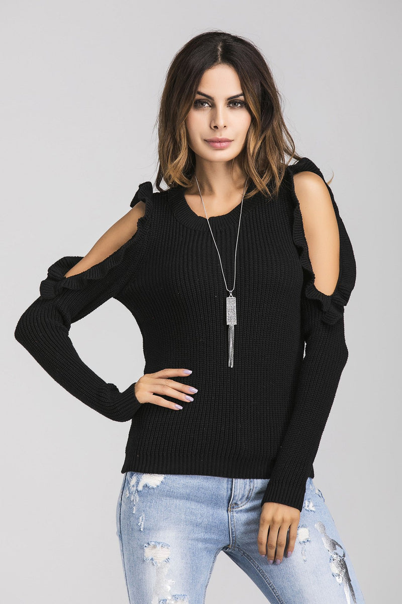 Round-Neck Long Sleeve Large Size Sweater