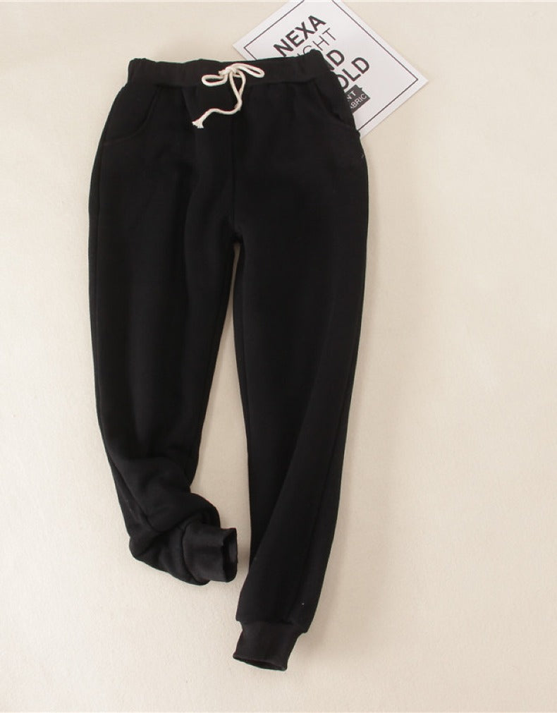Cashmere sweatpants plus size loose padded warm pants