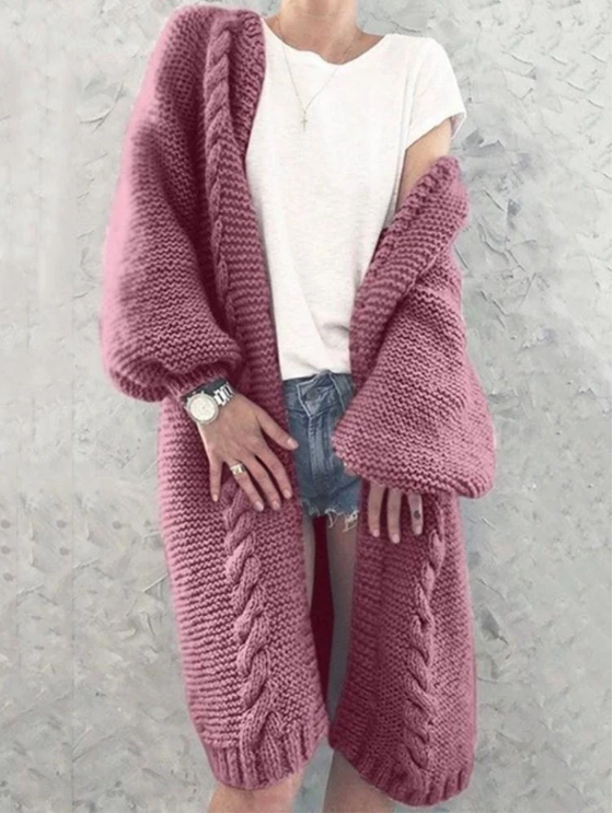 WOMEN MULTICOLOR LONG SLEEVE CARDIGAN SWEATER