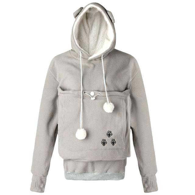 Pet Holder Thick Plush Hoodie