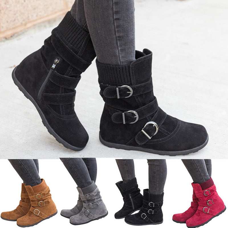 Thick Cotton Short  Boots
