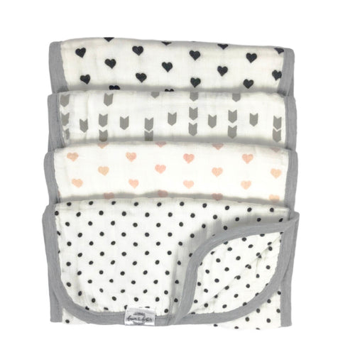 Organic Premium Burp Cloths - Hazel