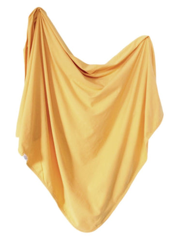 Organic Cotton Swaddle - Mustard