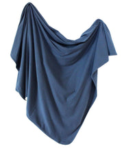 Load image into Gallery viewer, Organic Cotton Swaddle - Navy