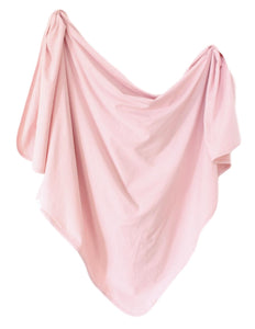 Organic Cotton Swaddle - Blush (pink)