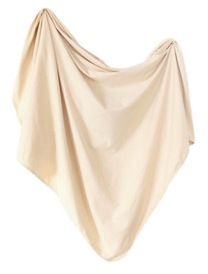 Organic Cotton Swaddle - Oat (natural/taupe)