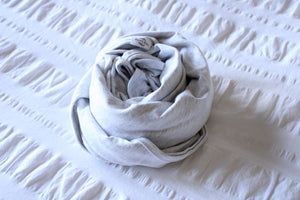 Organic Cotton Swaddle - Ash (light grey)