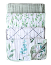 Load image into Gallery viewer, Organic Premium Burp Cloths *NEW* - Sage